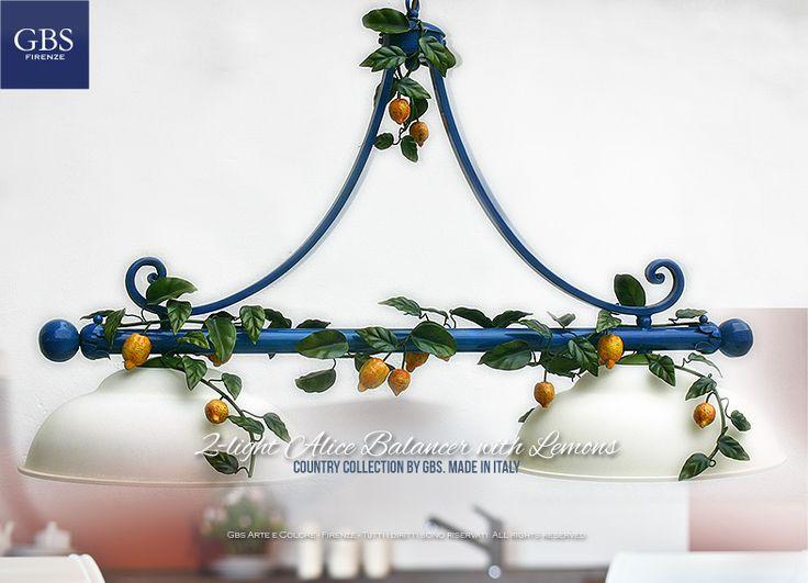 Arredamento coordinato e personalizzato. Su misura. Le collezioni Country e Country-Chic di GBS permettono di personalizzare i colori e le misure dei punti luce.La perfetta illuminazione della cucina che rispetti anche le armonie cromatiche, i temi, gli specifici colori dell'arredamento.