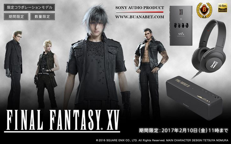 Produk Audio Sony bertema Final Fantasy XV.