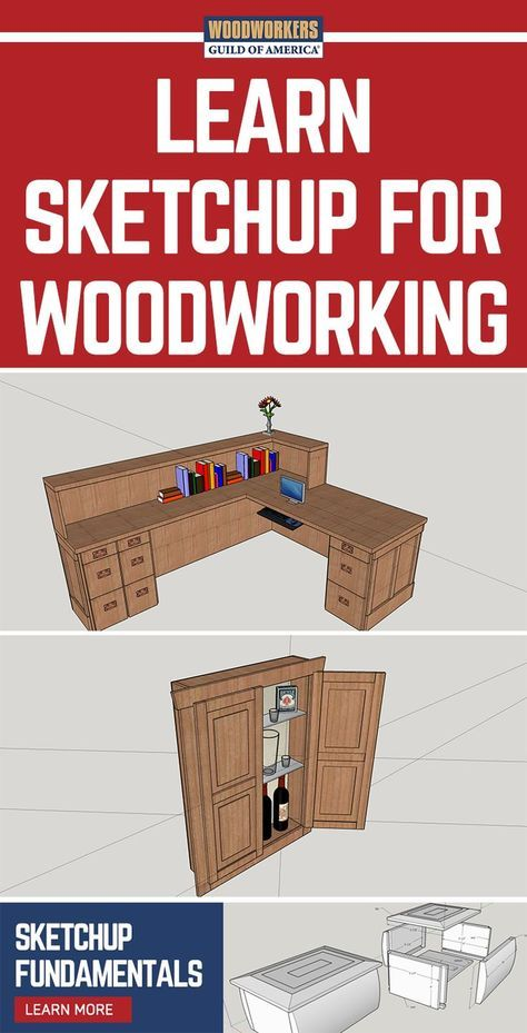 SketchUp for Woodworkers-Handbuch – SketchUp-Tutorial