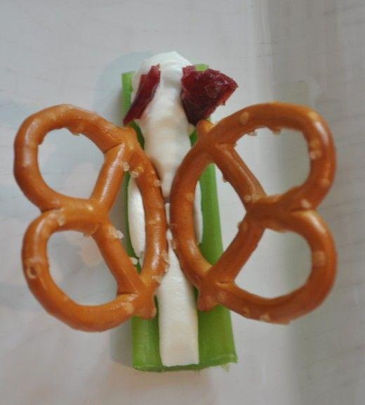 Kids' Butterfly Party Food Ideas: Food Ideas, Butterfly Party, Butterflies Party, Kids, Pretzels, Cream Cheeses, Parties Food, Party Food, Butterflies Snacks