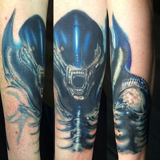 Alien Xenomorph by Yan at Holy Cow Tattoos Eastbourne UK.