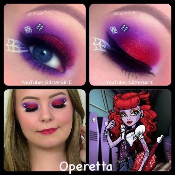 Monster High Operetta Makeup. Youtube channel: full.sc/SK3bIA