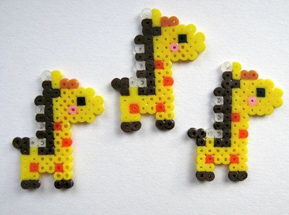 Kawaii Cute Hama/Pearler Bead Giraffes Pack of 10 by Pelemele, £5.00