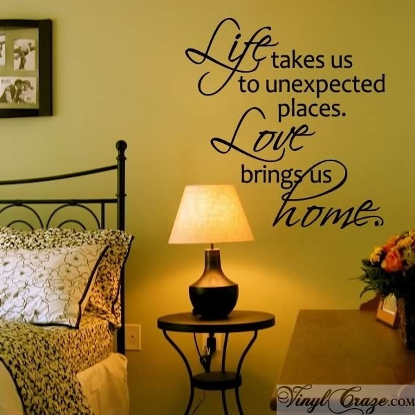 Life takes us to unexpected places is a perfect vinyl wall quote for any room in your home. Our quotes come pre-spaced, and install in less than 5 minutes.
