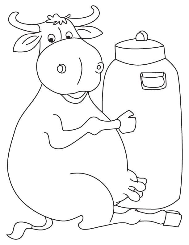 Milkman buffalo coloring page Coloring pages, Pencil art