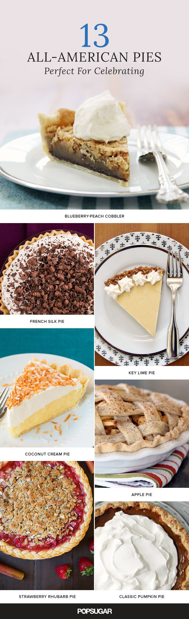 Creative, newfangled pie recipes are fun and fabulous, but sometimes a classic is just what you're craving. From apple to cherry to french silk (a pie that is actually Southern, not French), these are the American pie recipes you need to know.