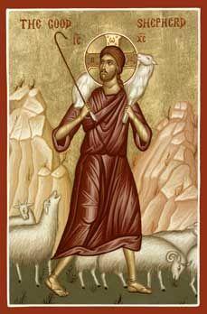 Christ the Good Shepherd Orthodox Icon » Mounted Orthodox Icons of the Lord Jesus Christ » ArchangelsBooks.com