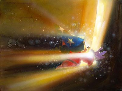 Fantasia - Mickey Mouse - Beyond the Door - John Rowe - World-Wide-Art.com - $295.00 #Disney #JohnRowe