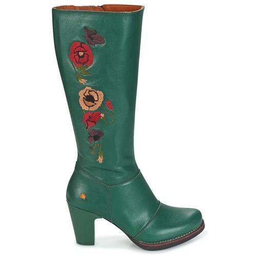 Schoenen Dames Hoge laarzen Art GRAN-VIA Groen