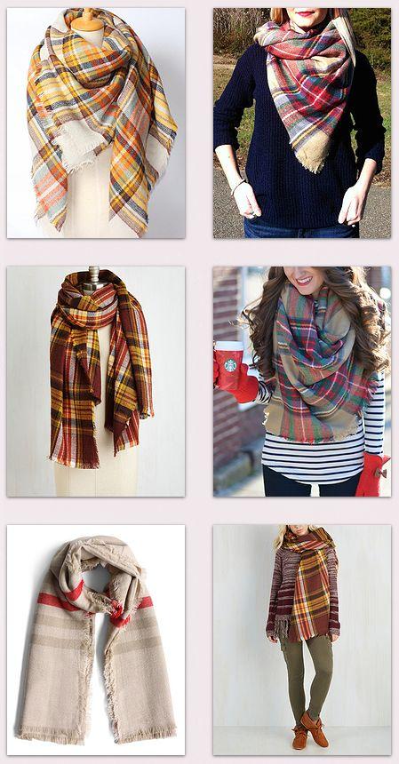 Pretty plaid scarves? Yes, please!