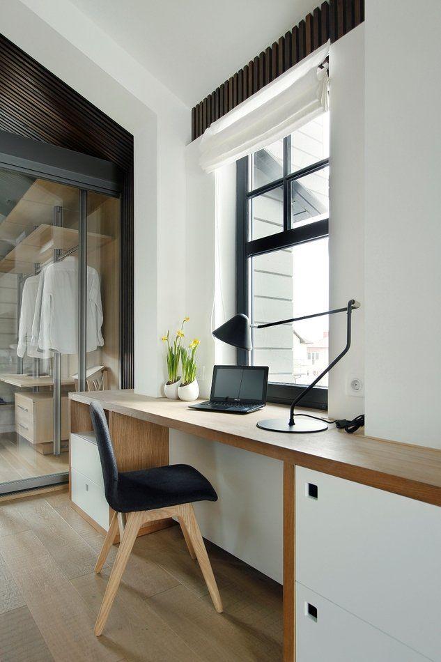 Спальня с прозрачной гардеробной