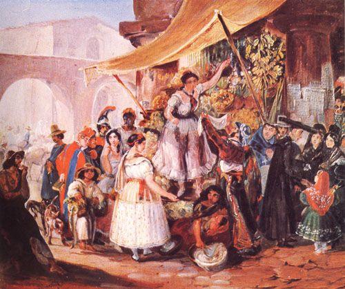 LA REINA DEL MERCADO, 1883 Oleo sobre Tela 33 x 42 cm Museo Nacional de Bellas Artes