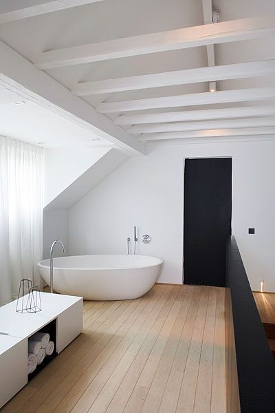 Bath/ I don't care if I have to sleep on the floor, as long as my bathroom looks like this one!