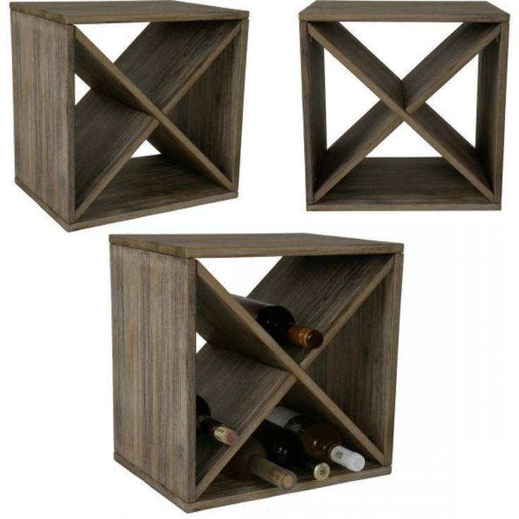 Weinregal, Holz, aus Großhandel und Import