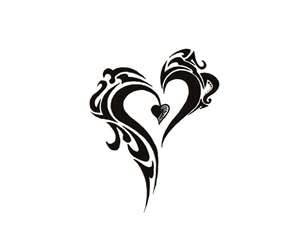 Tribal Heart Tattoo