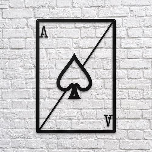 Ace of Spades #metal #wallart #decoration #decor #homedecor #home #idea #gift #shopping #metalart #wallhanging #walldecor #interior #steel #decorations #interiors #pinterest #raayt #sign #wallsign #diy #homedecorationidea #ideas #product #feather #feathers #geometric #geometry #minimal #minimalist #spade #aceofspades