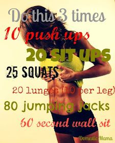 Mini-morning workout. Going to start getting up a little earlier and TRYING to do this in the morning before work.