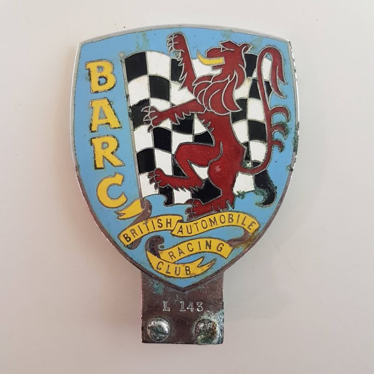 Rare Vintage BARC Membership Badge   English Grill Badge, English Royal Automobile, British Grill badge, Edward VII BRAC, British Racing by Jimpiphanys on Etsy