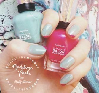 Ein Nageldesign mit farbiger Nagelspitze und leuchtenden Farben ist ideal für den Frühling oder Sommer #MadelineMonday