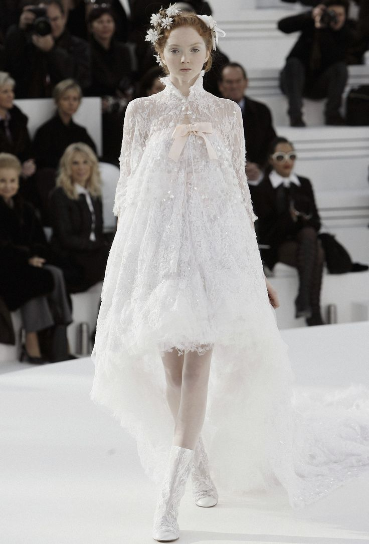 Lily Cole closing Chanel Haute Couture Spring/Summer season 2006