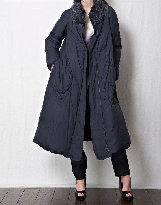 Hoodied Down Coat  Two Side Ware Long  Down by ttlovewomenclothing, $179.00