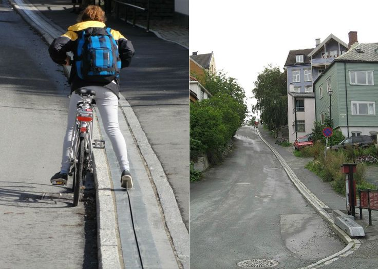 """Atlas Obscura onSlateis a blog about the world's hidden wonders. Like us onFacebookandTumblr, or follow us onTwitter. Cycling is wonderful way to get to and from work. So healthy. So environmentally friendly. So cost-effective. But if your route home involves a giant hill, it's way too easy to say, """"Screw..."""