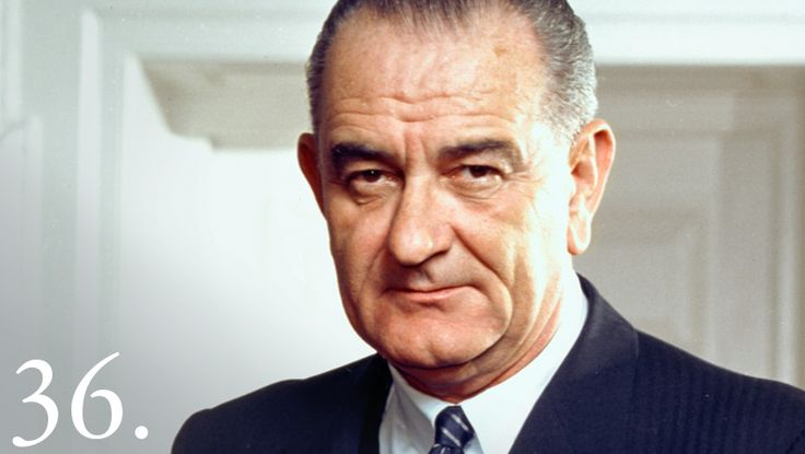 """Lyndon B. Johnson became the 36th United States President when Kennedy was assassinated. Lyndon B. Johnson - """"A Great Society"""" for the American people and their fellow men elsewhere was the vision of Lyndon B. Johnson. In his first years of office he obtained passage of one of the most extensive legislative programs in the Nation's history. Maintaining collective security, he carried on the rapidly growing struggle to restrain Communist encroachment in Viet Nam."""
