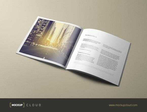 Square Brochure Mock-Up by Mockup Cloud on @creativemarket