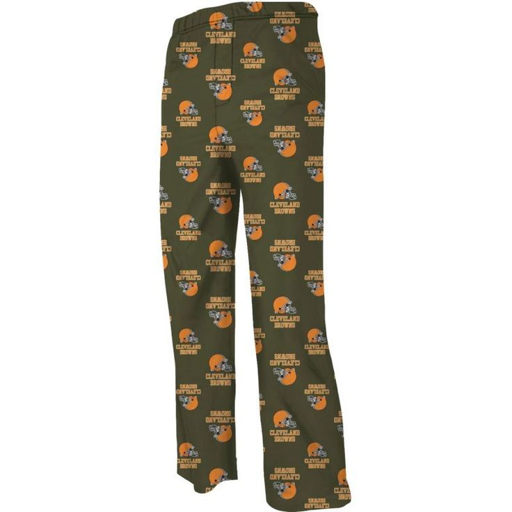 Team Apparel Youth Cleveland Team Print Brown Jersey Pants, Kids Unisex, Size: Medium