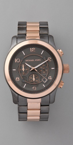 my newest addition.: Rose Gold Watches, Watches Menswear, Black Watches, Mk Watches, Michael Kors Watches, Menswear Inspiration Watches, Menswearinspir Watches, Men Watches, Christmas Gifts
