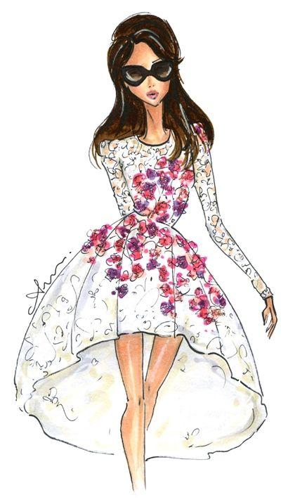 Anum Tariq Illustrations - Giambattista Valli Haute Couture 2014