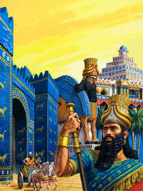 Babylon the Mighty (Original) (Signed) art by Roger Payne