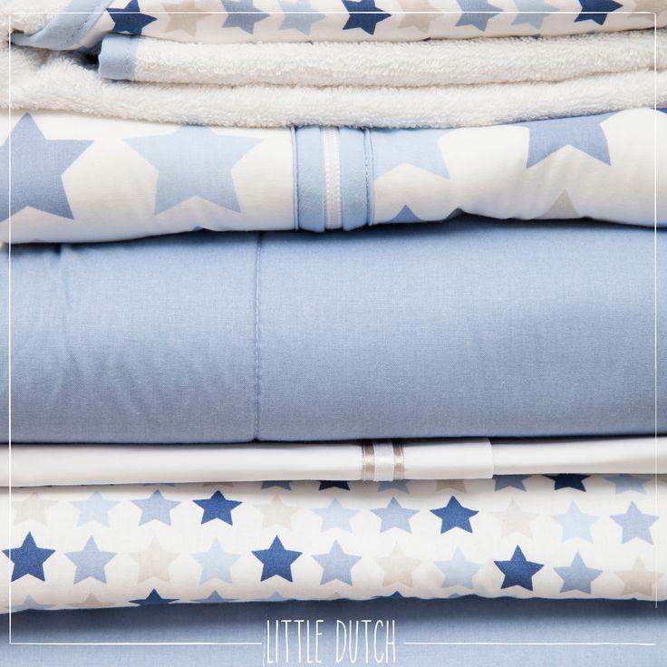 Little Dutch Mixed stars blue #littledutch #little #dutch #blue #blauw  #stars #sterren #blankets #dekens #nursery #kinderkamer