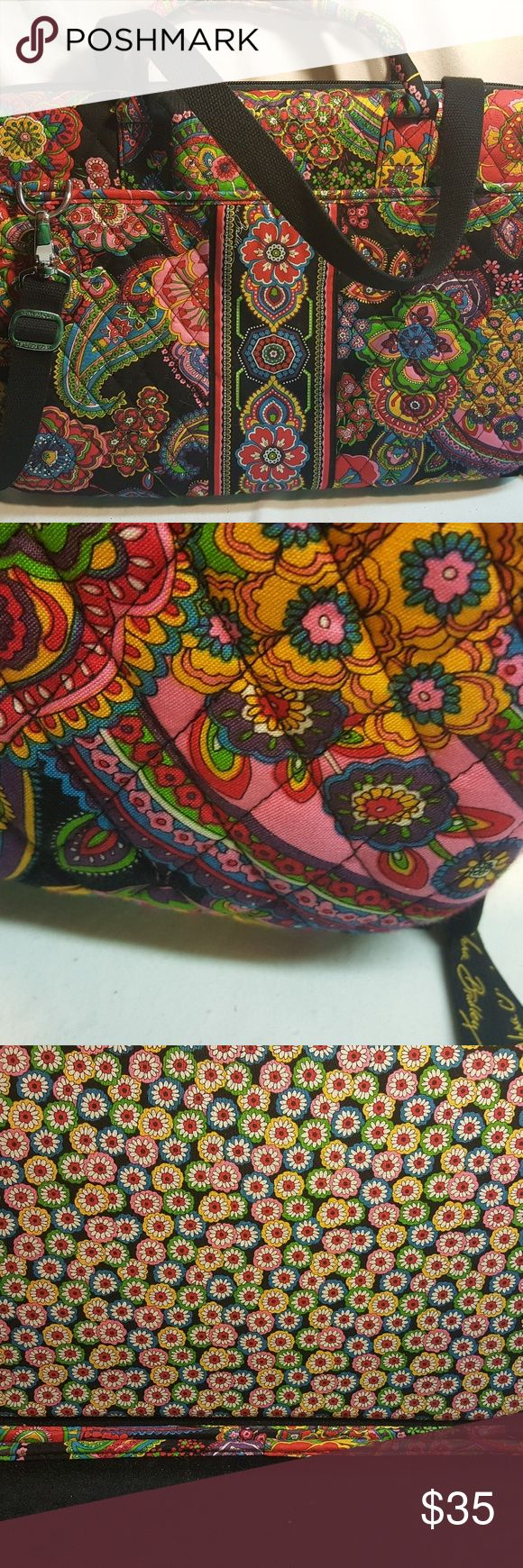 Vera Bradley laptop bag This a very pretty bag for your laptop it has no wear it's never been used very gorgeous prints inside and out Vera Bradley Bags Laptop Bags