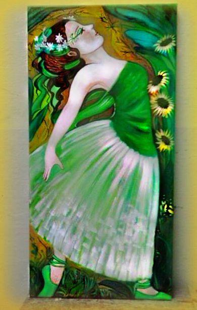 """arte naif """"La danza della natura"""" (acrilico su tela) ..la primavera è alle porte e anche il risveglio della natura e la sua delicata danza .. by Dany"""