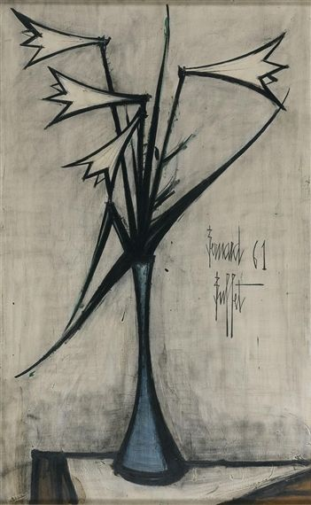 LYS BLANCS By Bernard Buffet