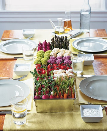 Flower-less centerpieces