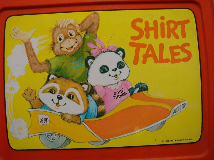 Shirt Tales Lunch Box 1980s Cartoon Gang of fuzzy cute animals Perfect for starting school with. $14.00, via Etsy.