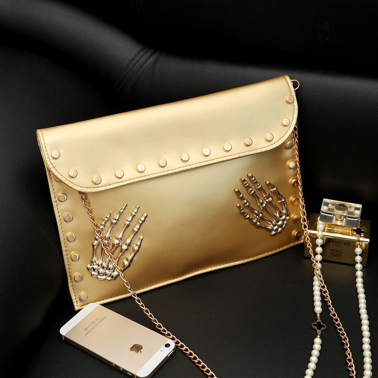 The-new-Korean-women-PU-package-personality-Skeleton-Hand-Bag-casual-chain-rivet-envelope-shoulder-bags.jpg (800×800)