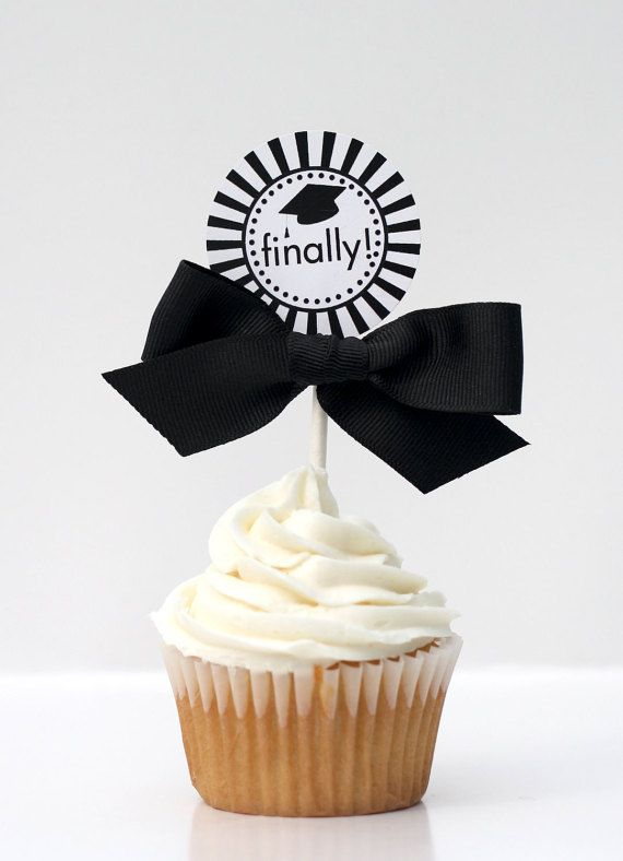 Graduation Cupcake Toppers  CLASS OF 2015 by ConfettiPrintsShop