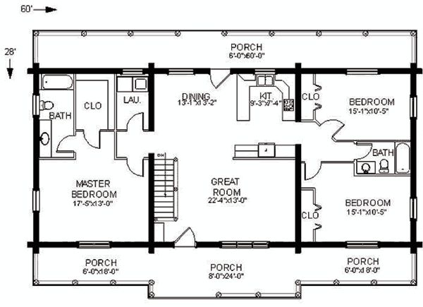 The swan valley log home plan has everything you need on for Double wide floor plans with basement