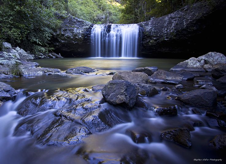 11 Waterfalls to photograph in SEQ --> Lip Falls, Denham Scenic Reserve, Beechmont by @swaller4