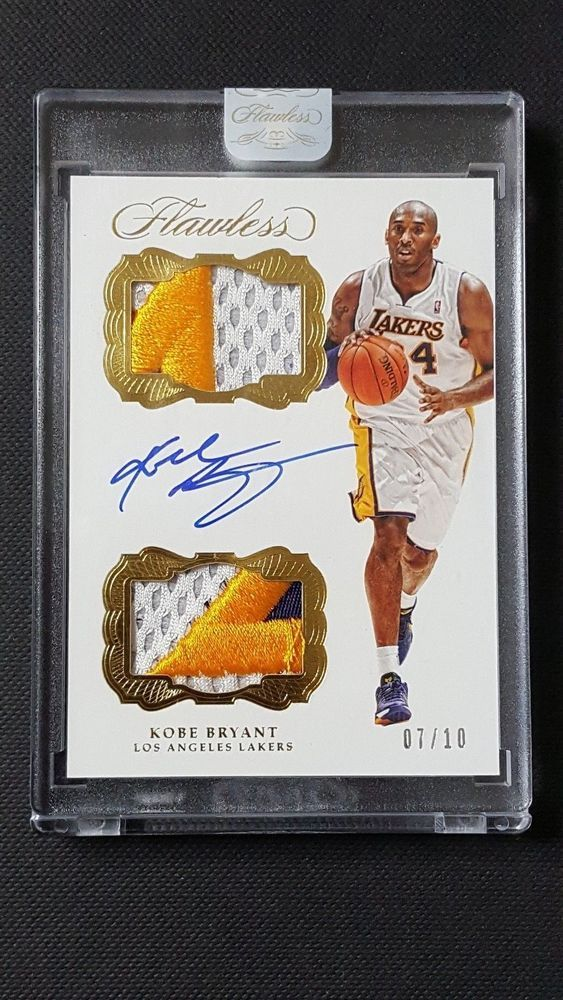 16-17 Panini Flawless Dual Patch Autographs Gold Patch Auto Kobe Bryant #/10