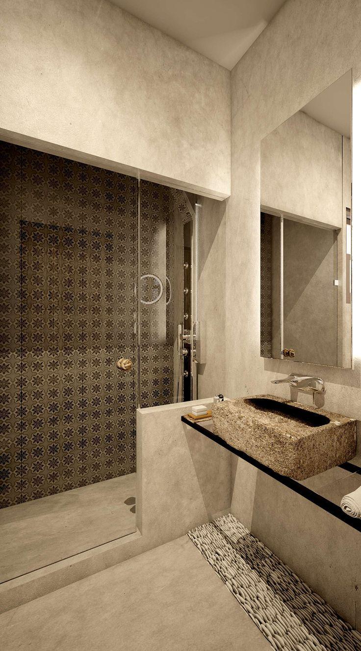 Vrachos Junior Suite - Bathroom, Elakati Luxury Boutique Hotel, Rhodes , Greece