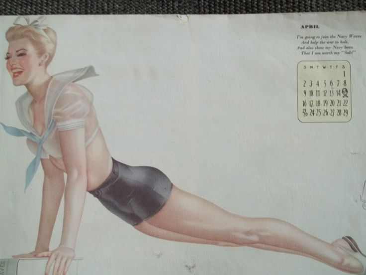 Calendar 1943 (style Pin-Ups) USA. I can sell