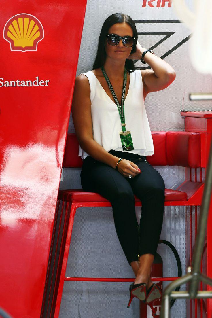 Kimi girlfriend #MinttuVirtanen at box. #KimiRaikkonen #f1 #AustrianGP #Spielberg (Saturday/june 21, 2014) 03