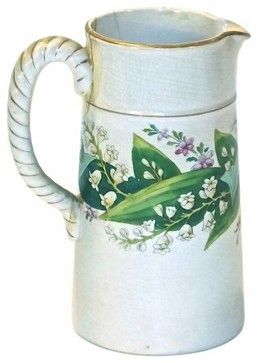 Ceramic Lily of Valley Pitcher mediterranean-food-containers-and-storage