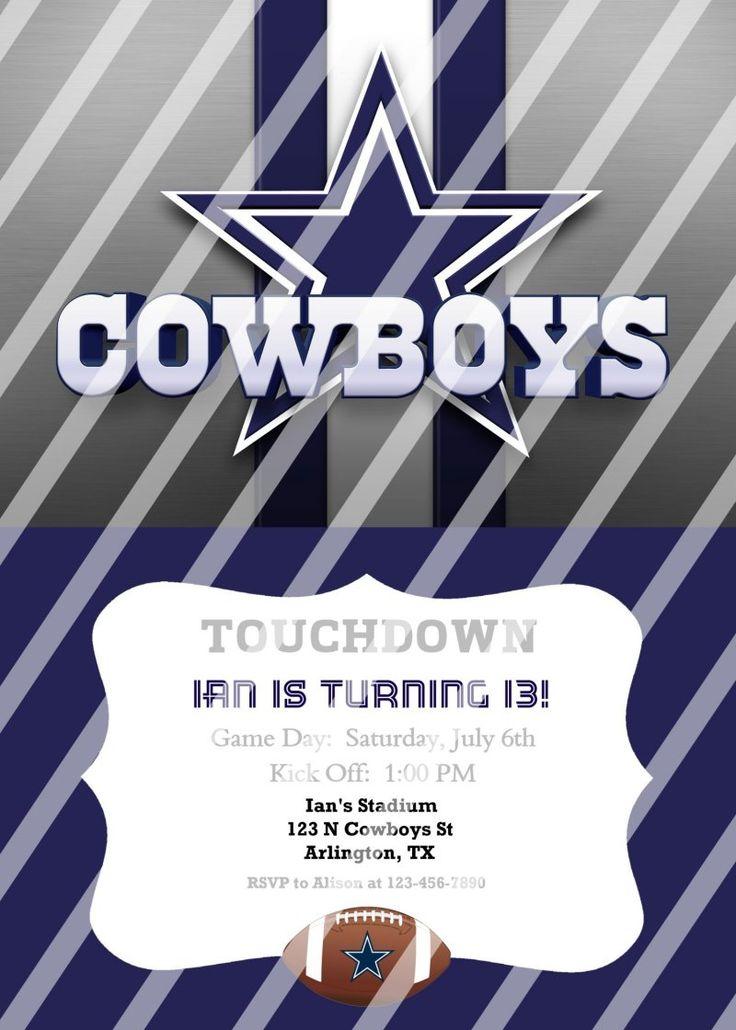Best 25 Dallas cowboys party ideas – Dallas Cowboys Party Invitations