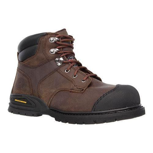 Skechers Men's Boots Work Relaxed Fit Kener Steel Toe Dark