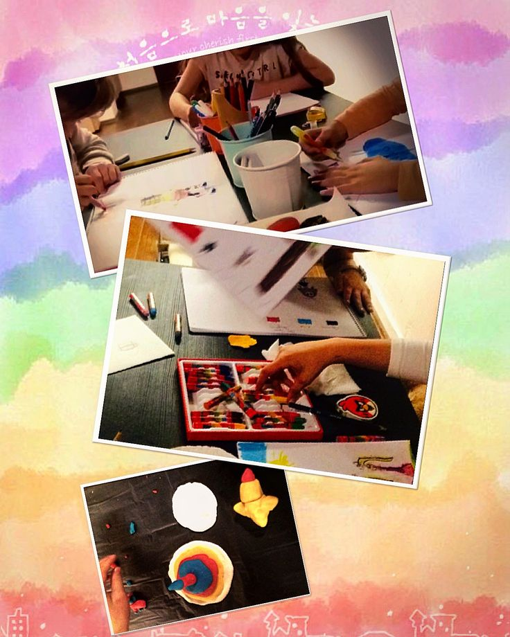 Resim yaparken çok eğleniyoruz ya siz?  #resim #çocuk #hayalgücü #atolye  #pastelboya #coloredpencils #colour #clay #crayon #pastel #boya #imagine #artstudio #arensanat